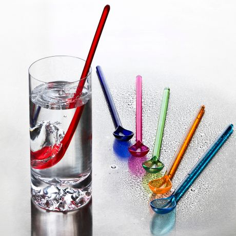 Set de 6 Cucharas Refresco Colores Surtidos