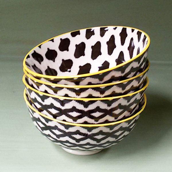 Bowl con Estampado Negro