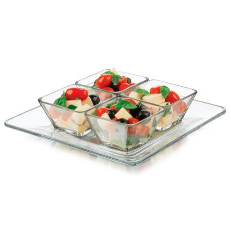 Juego de 5 piezas de bowls con bandeja Libbey®