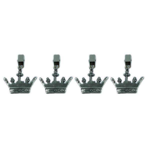 Sujeta Mantel con Corona de Rey - 4 piezas