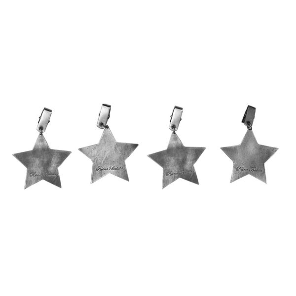 Sujeta Mantel Estrella color Plata
