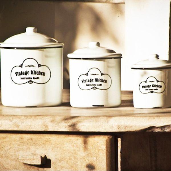 Tarros Enlozados Vintage Kitchen - 3 piezas