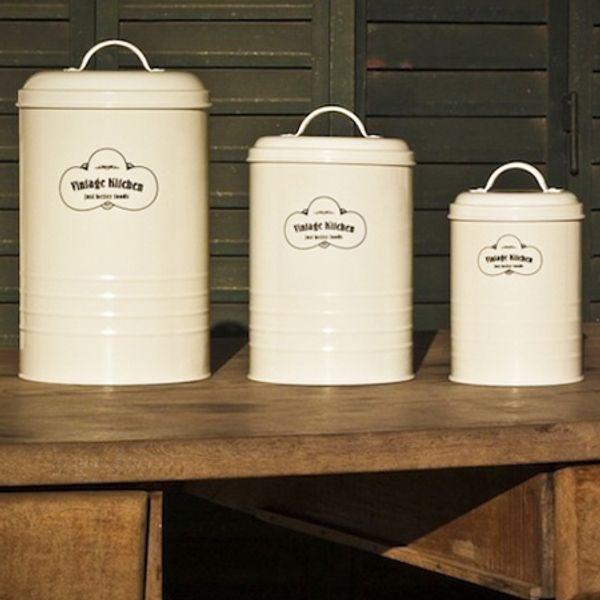 Tarros Vintage Kitchen Grandes - 3 piezas