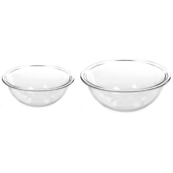 Set 2 Bowls de vidrio de 1,5 y 3 litros Marinex®