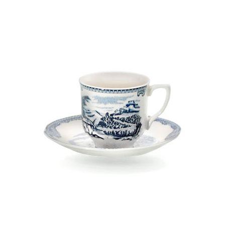 Taza de café con plato Old Britain Castles