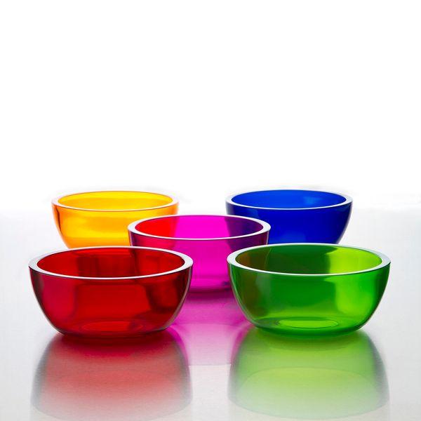 Set de 5 Bowls de acrilico de colores