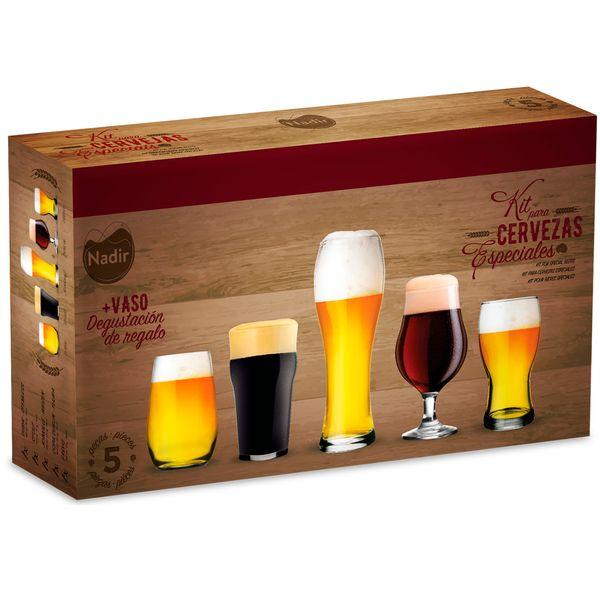 Juego de vasos cervezeros x 5 piezas