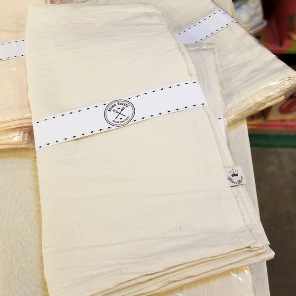 Mantel Cuadrado de Lienzo color Crudo de 2.0x2.0
