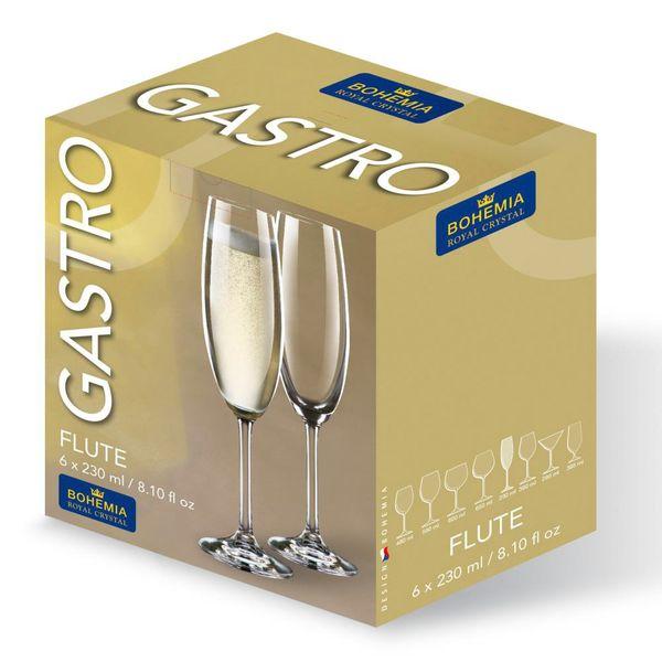 Juego de Copas de champagne de 230ml Maxima Cristal de Bohemia