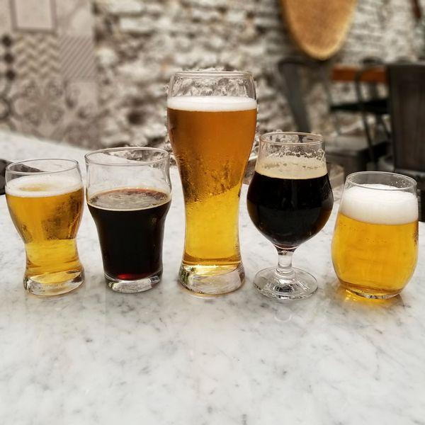 Juego de vasos cerveceros x 5 piezas