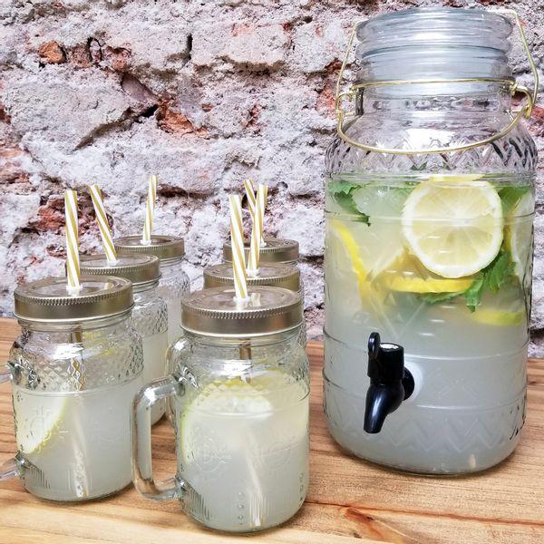 Dispenser 3.75 litros + 6 Chopps Frasco con Tapa