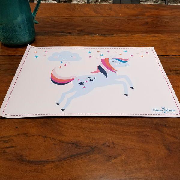 Individual Unicornio & Estrellas