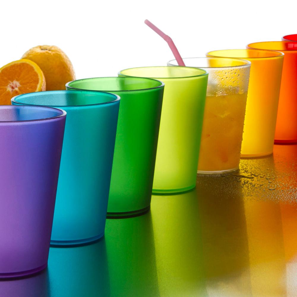 Juego de vasos de colores 8 piezas reinabatata - Vasos de colores ...