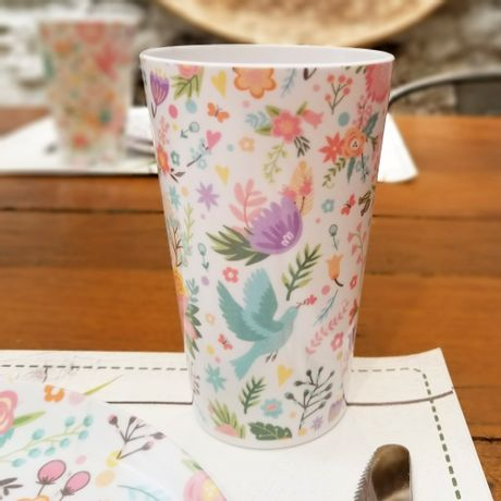 Vaso de Melamina - Flores