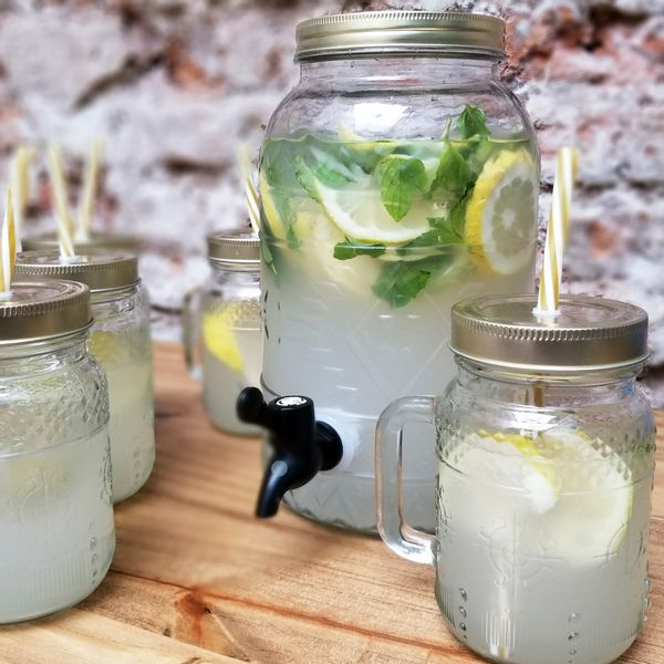 Dispenser 4 litros + 6 Chopps Frasco con Tapa