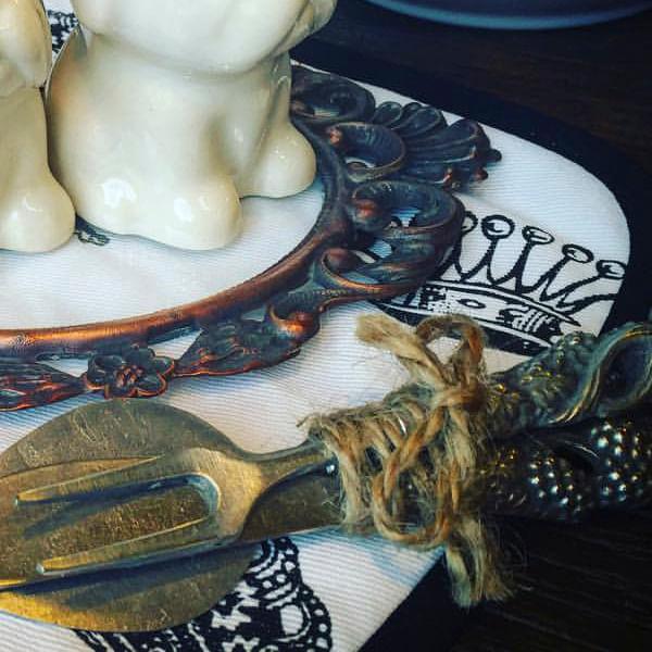 Cubiertos Antique para picadas - 3 piezas