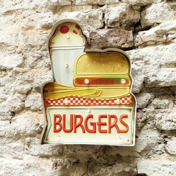 Cartel Luminoso Burgers
