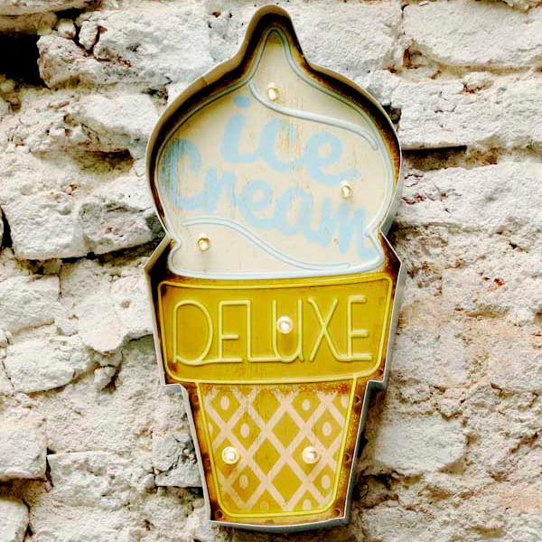 Cartel Luminoso Ice Cream Deluxe