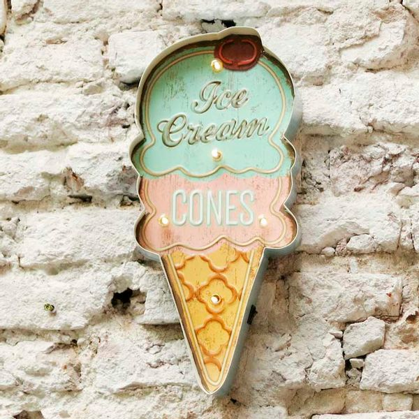 Cartel Luminoso Ice Cream Cones