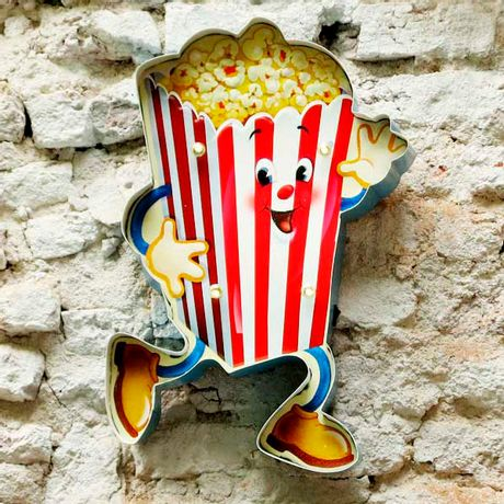Cartel Luminoso PopCorn
