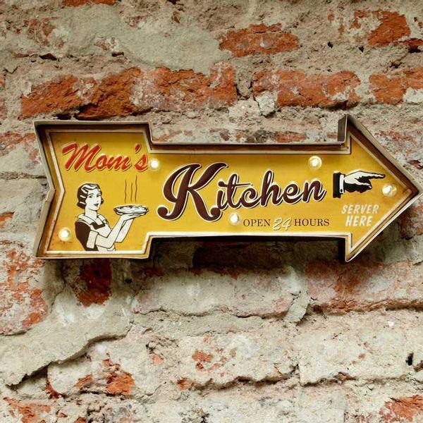 Cartel Luminoso Mom's Kitchen
