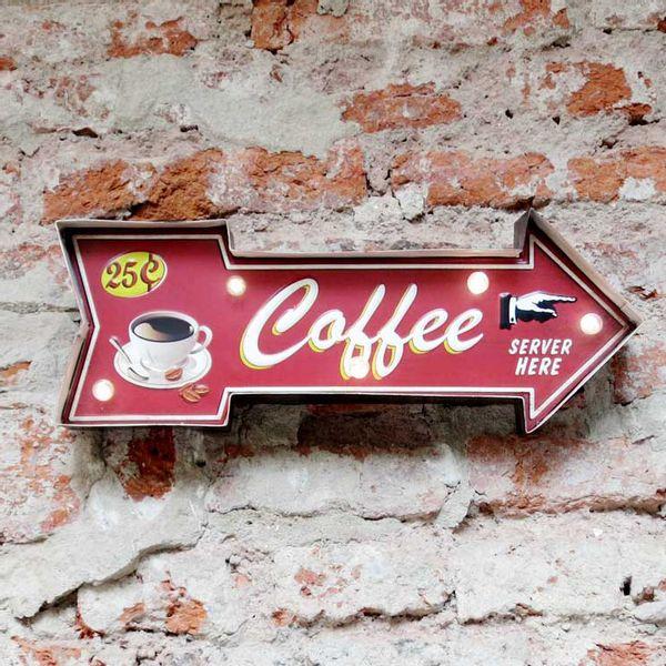 Cartel Luminoso Coffee