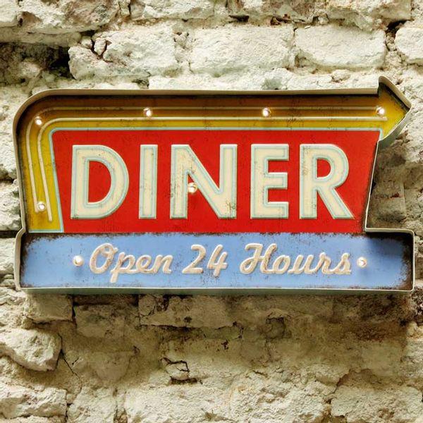Cartel Luminoso Diner