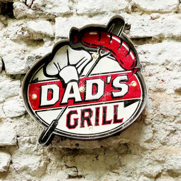 Cartel Luminoso Dad's Grill