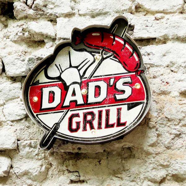 Cartel Luminoso Dad's Grill
