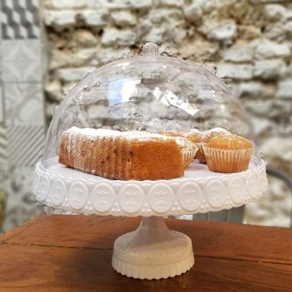 Pie de torta con Campana de Acrílico