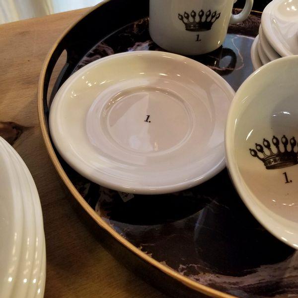 Plato Desayuno de Porcelana 1