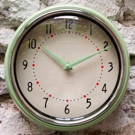 Reloj de Pared Vintage Verde Agua