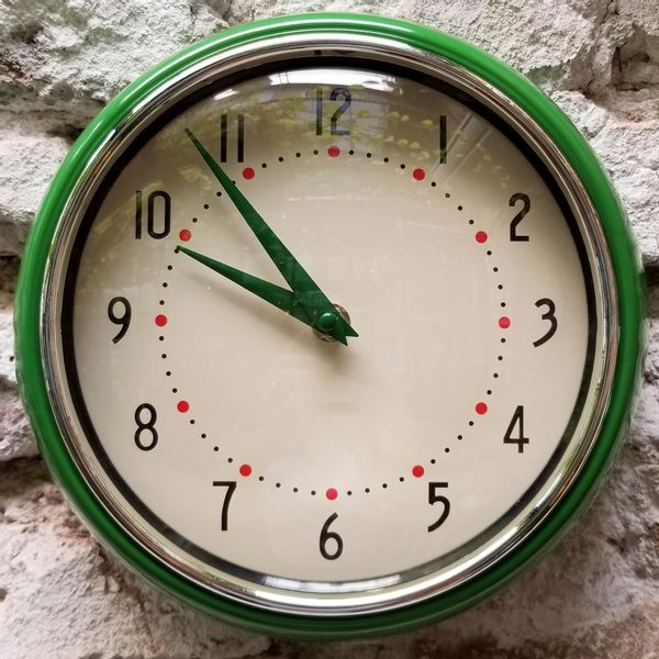 Reloj de Pared Vintage Verde