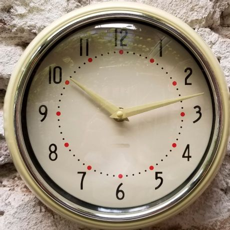 Reloj de Pared Vintage Crudo