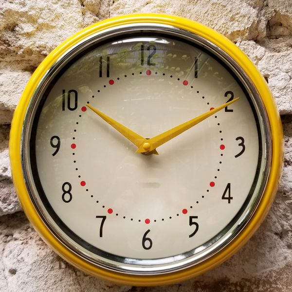 Reloj de Pared Vintage Amarillo