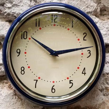 Reloj de Pared Vintage Azul