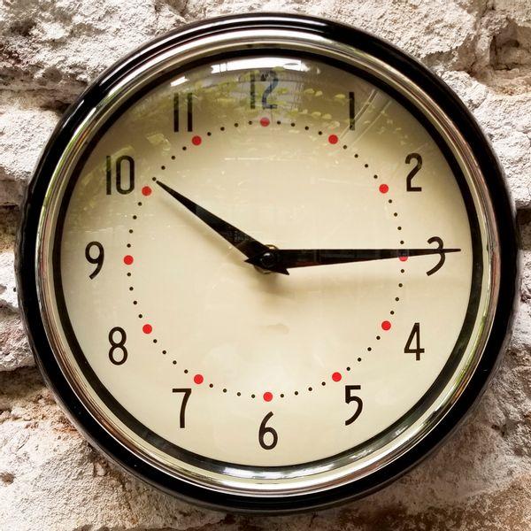 Reloj de Pared Vintage Negro