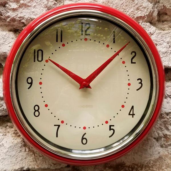 Reloj de Pared Vintage Rojo