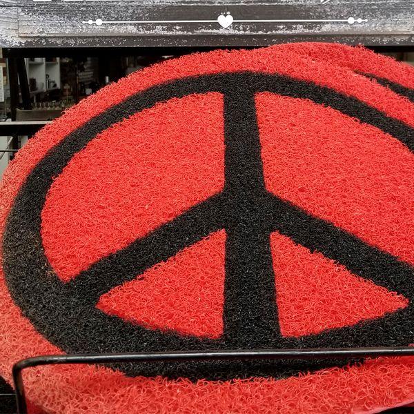 Felpudo Símbolo de la Paz Colorado