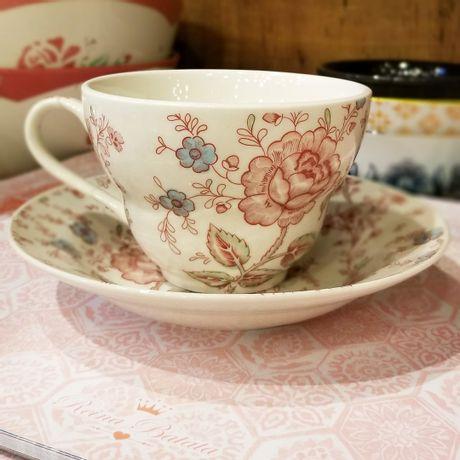 Taza de Desayuno con plato Rose Chintz