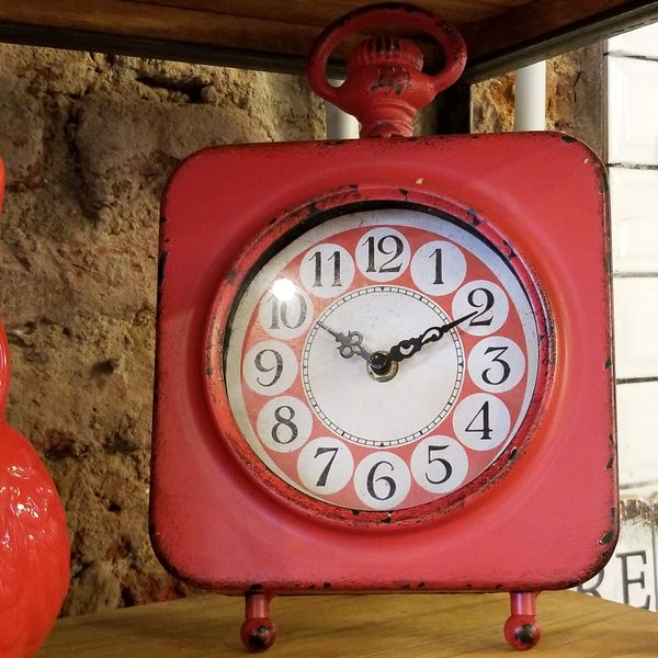 Reloj de Mesa Vintage Rojo