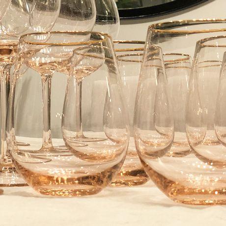 Vasos Bombé July Rose de 600 ml