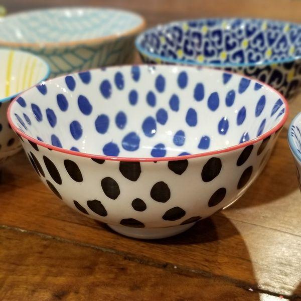 Bowl con Lunares Azules & Negros