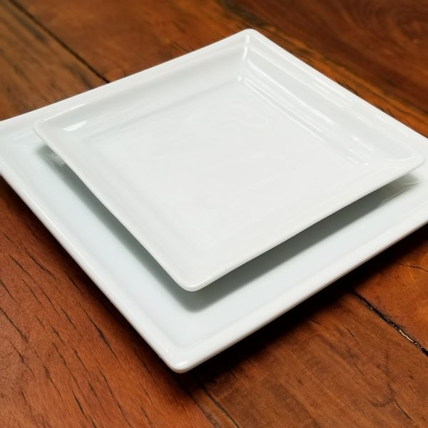 Plato de pan porcelana cuadrado