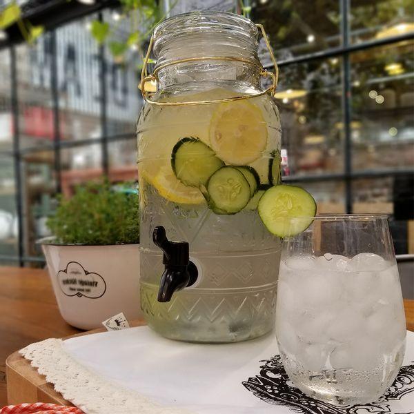 Dispenser 3.75 litros con Vaso bombé de vidrio
