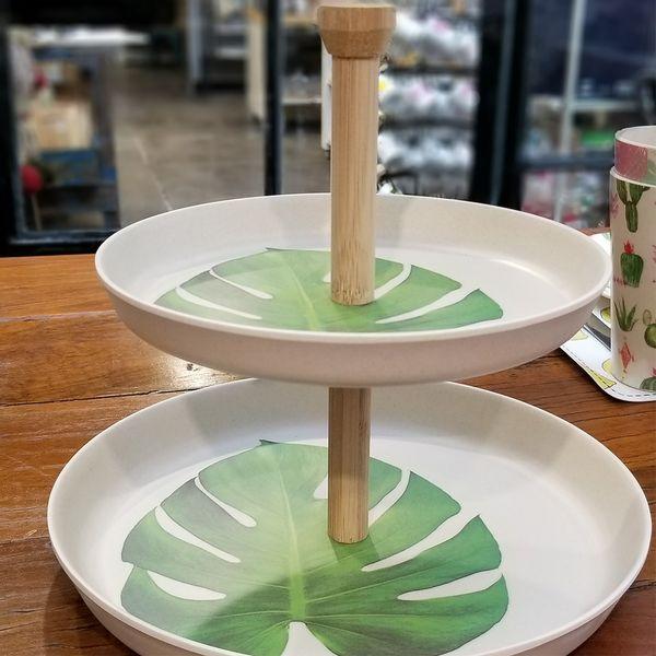 Plato para Masas de Bambú - Hojas