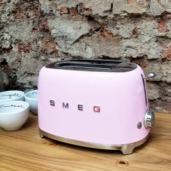 Tostadora SMEG color Rosa de 2 tostadas