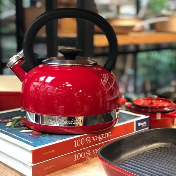 Pava Silvadora KitchenAid Roja de 1,9 litros