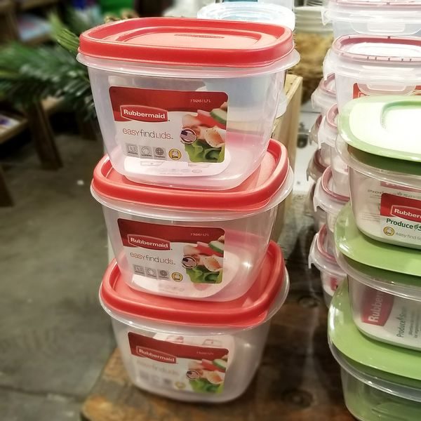 Contenedor Rubbermaid Easy Find Lids de 1,6 litros