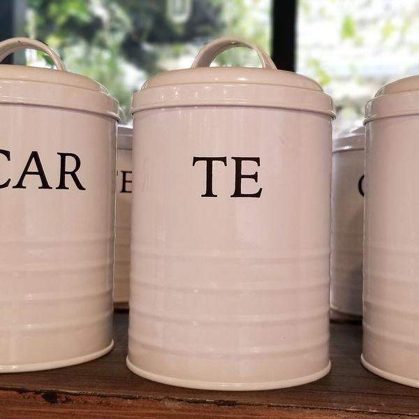 Tarro Blanco Té